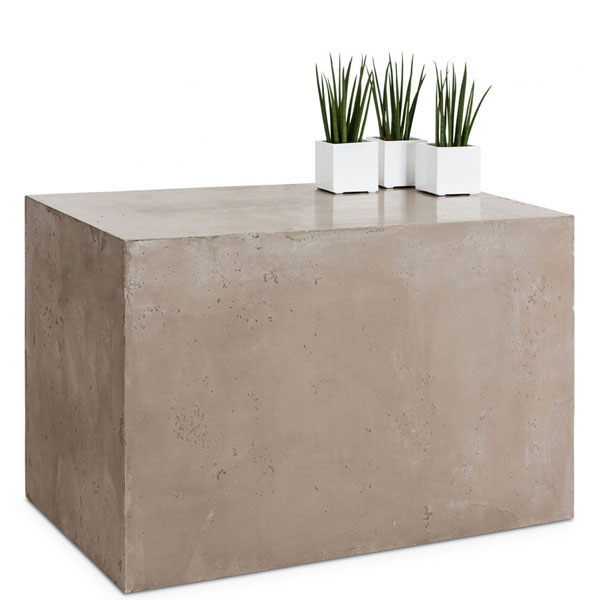 Single element with a concrete effect