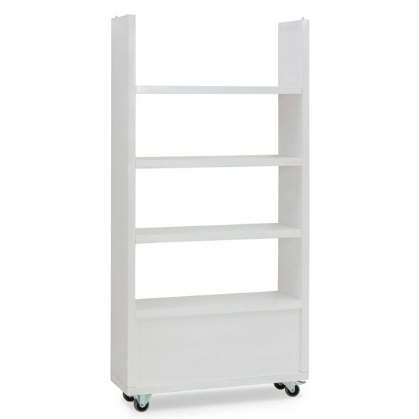 Rectangular shelf on wheels